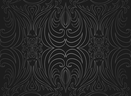 Seamless Black And Gray Vintage Texture Vector Pattern For Design Of Curtains Wallpaper