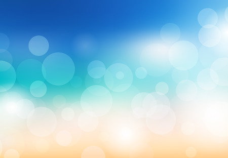 Blurred summer background. Beach with sparkles and bokeh. Vector background for your creativity