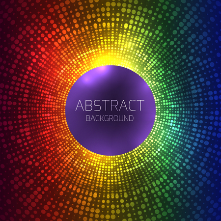 Abstract rainbow background with halftones and place for text. Vector background with dots for your creativity.