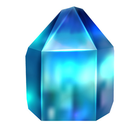 Realistic image of a precious stone is apatite. The object is separate from the background. Vector element for your creativity Illustration