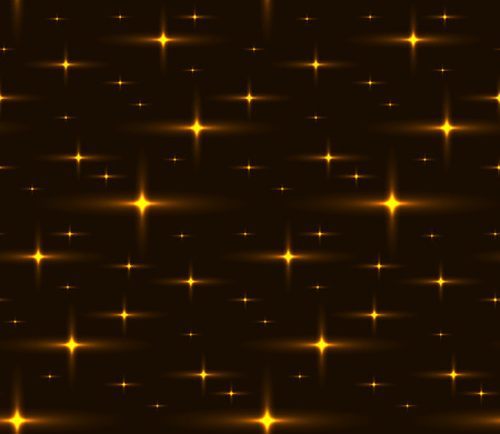 Seamless texture of the night sky with golden stars. Vector pattern for wrapping paper, wallpaper and your creativity