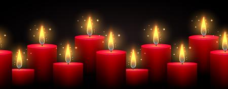 Luminous candles vector illustration