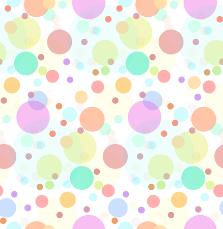 Seamless texture with transparent multi-colored sweets. Large and small colored circles. Stok Fotoğraf - 94315124