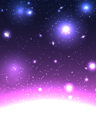 Space with stars and constellations template design