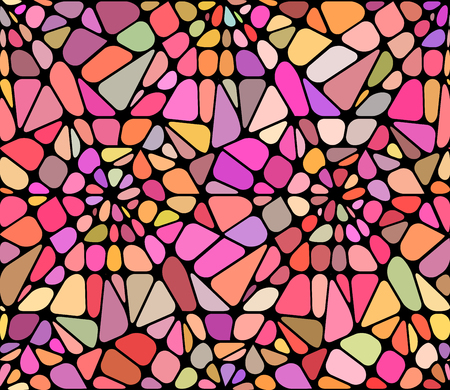 Vector background with a red broken stained glass.  Broken window