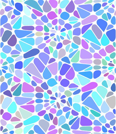 Vector background with a blue broken stained glass.  Broken window Ilustrace