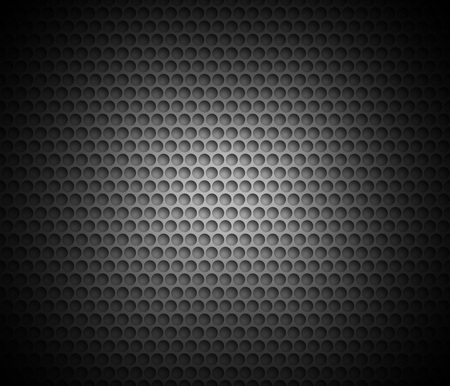 Black abstract background with metal background. Grid of round cells. Background with 3D effect for backgrounds, wallpapers, covers and your design
