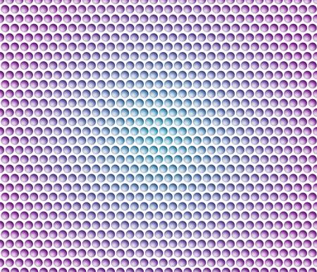 Abstrakter Hintergrund mit Metallhintergrund. Gitter runder Zellen mit Gefälle.
