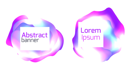 Set of abstract foil banners. Liquid iridescent banners. Vector pattern for your design Иллюстрация