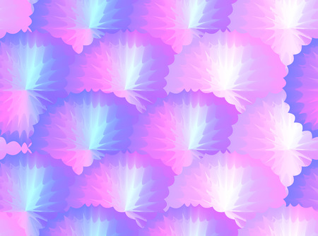 Seamless texture with  iridescent flowers. Foil pattern with divorces. Vector background for your creativity