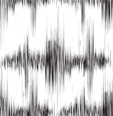 Seamless black and white texture with vibration sound. Oscillation and noise. Vector background for your creativity