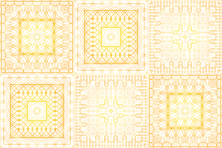 Seamless luxurious gold vintage texture in retro art deco style. Golden pattern on a white background. Vector background for fabrics, wallpapers and your creativity