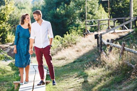 Couple walking in the countryside Reklamní fotografie