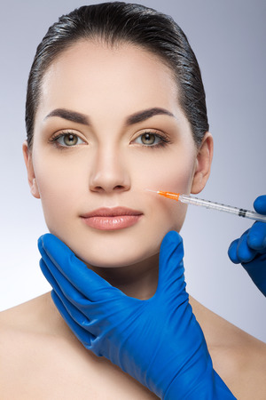 Model operated by plastic surgeon
