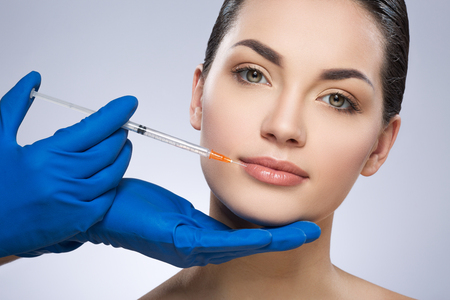 Young woman having plastic operation Banque d'images