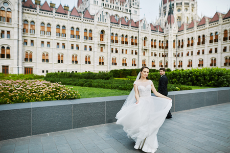 Wedding day photoshoot in old city