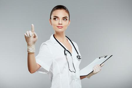 Gorgeous doctor portrait