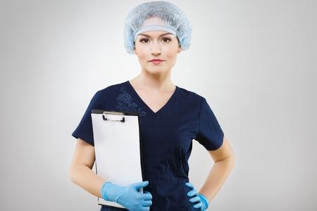 Pretty girl in medical uniform