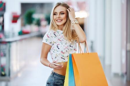 Lovely girl at shopping mall