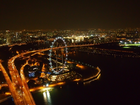 Singapore Flyer and all around Marina Bay photo