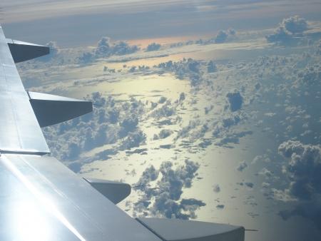 jetplane: vista dal jetplane mentre dall'altra parte dell'oceano