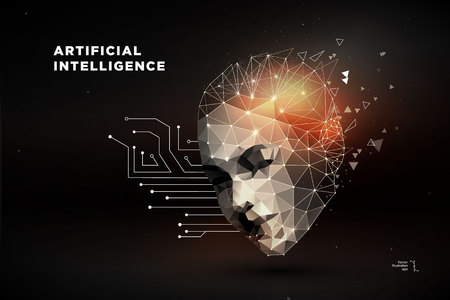Artificial intelligence concept vector illustration Ilustrace