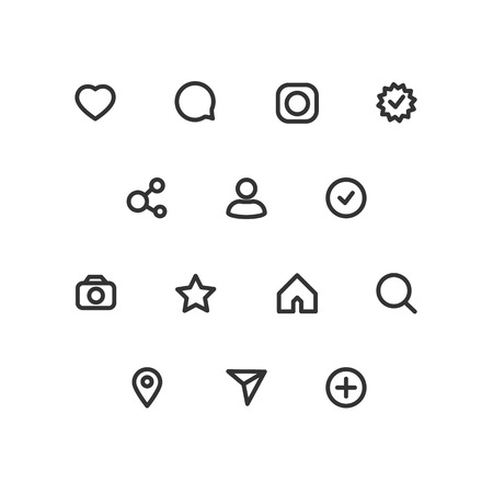 Social network icons. Vector icons Set of Internet icons.