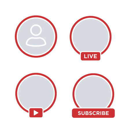Social media  icon avatar stories user LIVE video streaming. Vector illustration. EPS 10