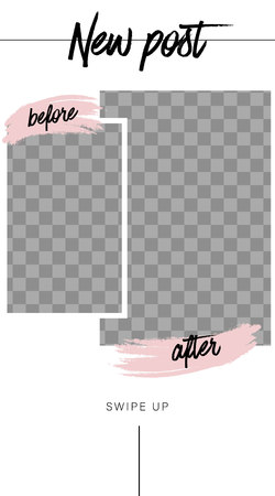 Stories template. Before and After. Streaming. Mockup for photo isolated on transparent background 일러스트