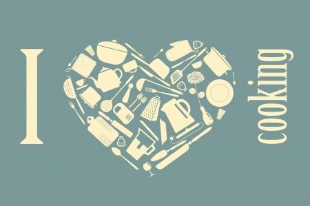 Heart shaped kitchen