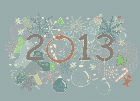 Abstract New Year 2013 vector greeting card
