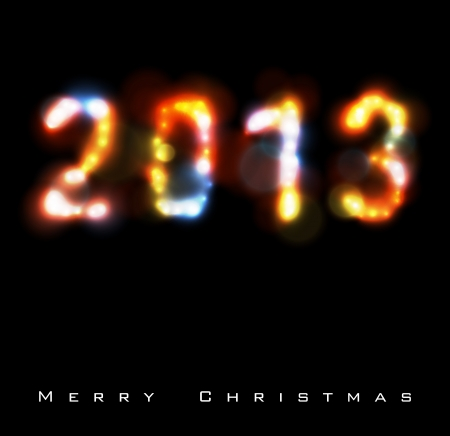 Christmas   New Year background 2013  Eps10 vector  Stock Vector - 16188982