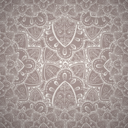 Floral abstract hand-drawn pattern  background  Vector
