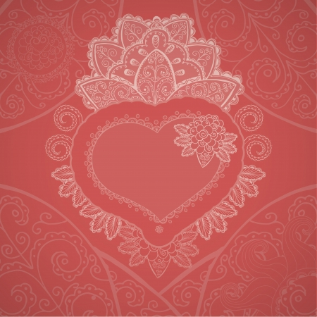Valentines day background  Heart pattern Stock Vector - 16476456