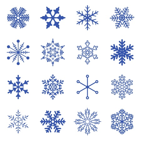 set of simple snowflakes  Stock Vector - 16476447