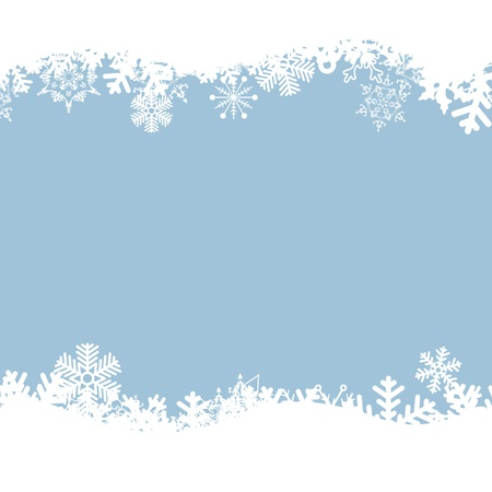 flake: blue background with snowflakes