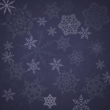 Beautiful Snowflakes pattern.  Illustration