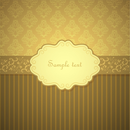 royal invitation: Vintage frame template background.