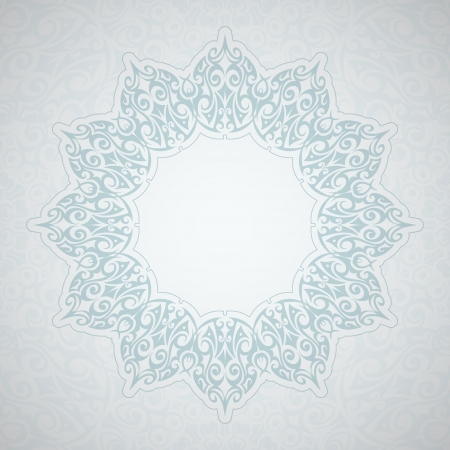 Circle lace frame background. Stock Vector - 18594703