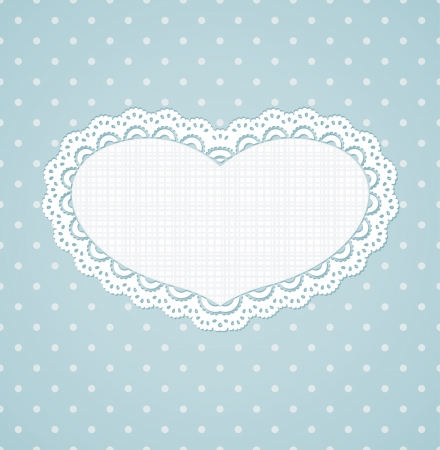 Polka dot design, vintage hearts frame   Vector