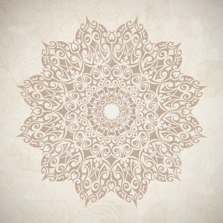 Lace circle, celtic ornamental. Vector image Stock Vector - 19760041