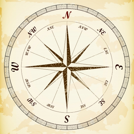 Vintage wind rose, eps10 vector.