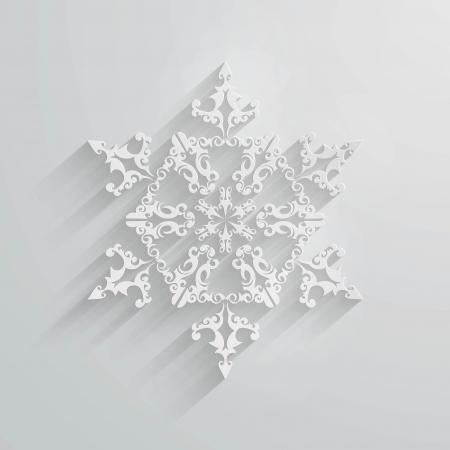 Eps10 ベクトル ホワイト ペーパー スノーフレーク アップリケ。