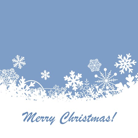 Vector Christmas background with snowflakes.