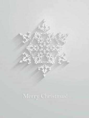 vector wit papier sneeuwvlok applique. Stock Illustratie