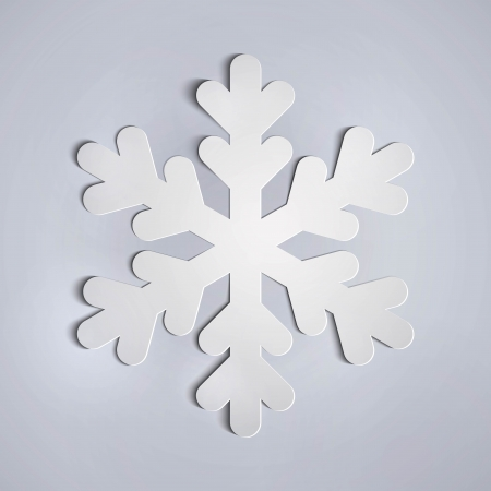vector white paper snowflake applique.