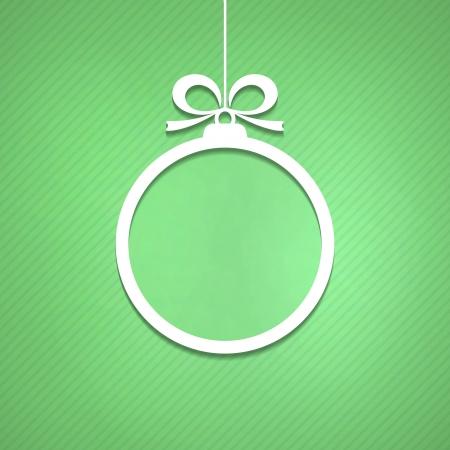 Christmas ball cut of paper.  Vector