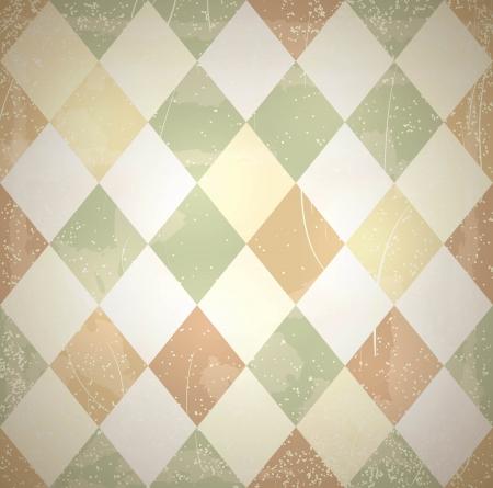 rhomb: Retro diamonds texture with grunge effects.