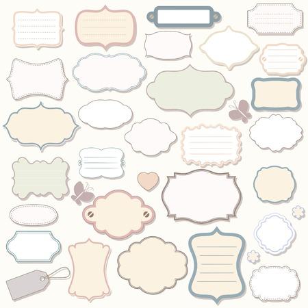 sencillo: Etiquetas de vector, elementos para el diseño.