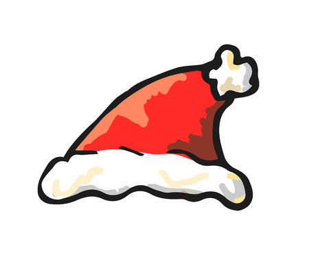 Santa Claus hat, vector.